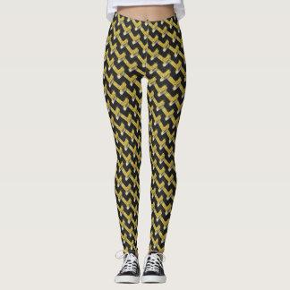 Black and Gold Pattern Leggings ★Unique Fashion★