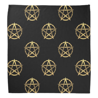Black and gold pentagram bandana