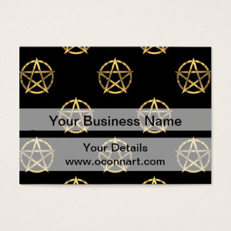 Black and gold pentagram business card