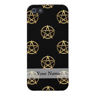 Black and gold pentagram case for iPhone SE/5/5s