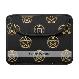 Black and gold pentagram sleeves for MacBooks