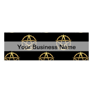 Black and gold pentagram mini business card