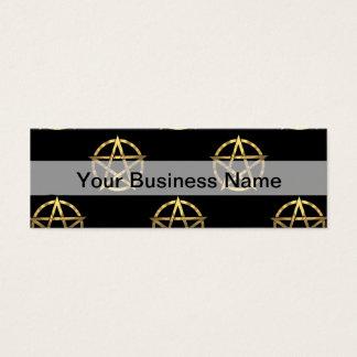 Black and gold pentagram mini business card