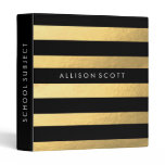 Black And Gold Personalized Binder<br><div class='desc'>This super cute black and gold binder would be perfect for anything! Whether you want to keep your school subjects organized or recipes, they&#39;ll look amazing in this binder! Personalize this binder just for you by adding whatever text you&#39;d like on to the spine of the binder, and on the...</div>