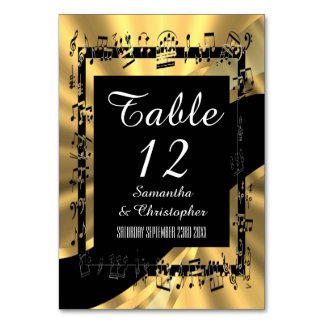 Black and gold personalized card