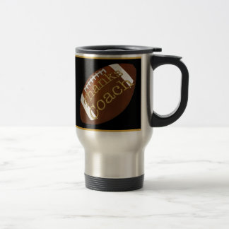 Black and Gold PERSONALIZED Football Coach Mugs