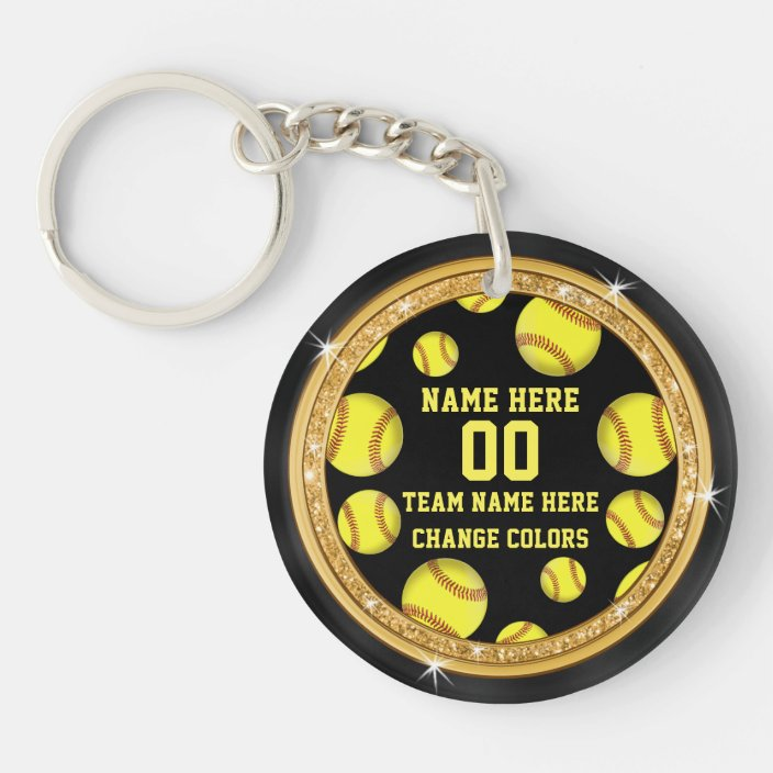 Double-Sided Personalized Softball Bag Tag Made of Hard Plastic Add Player Name and Number