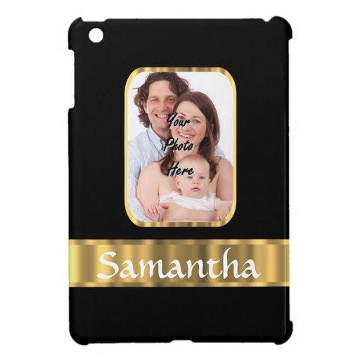 Black and gold photo template iPad mini covers