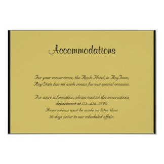 Black and Gold Piano Wedding Insert Card