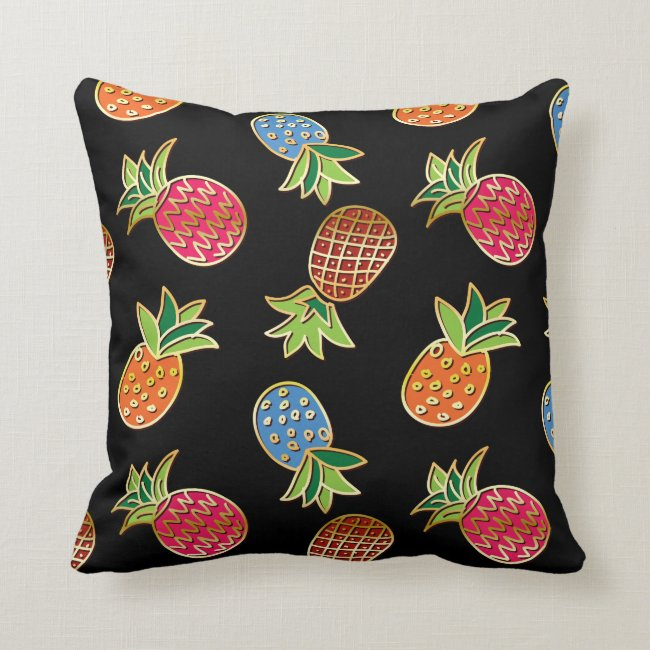 Black And Gold Pineapple Pattern