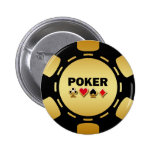 BLACK AND GOLD POKER CHIP BUTTONS