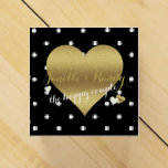 Black And Gold Polka Dot Party Favor Boxes
