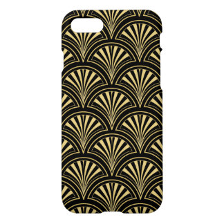 Black and Gold Posh Deco Fan Pattern iPhone 8/7 Case