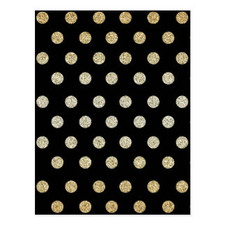 Black and Gold Postcard