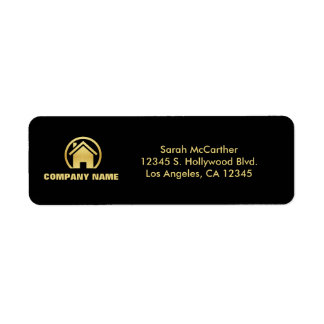 Black and Gold Professional Real Estate Label
