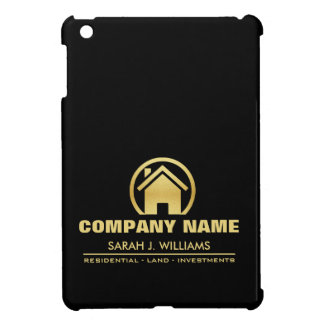 Black and Gold Real Estate iPad Mini Cover
