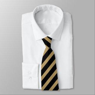 Black and Gold Regimental Stripe Tie