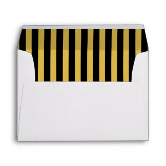 Black and Gold Rehearsal Dinner Envelope