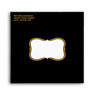 Black and Gold Retirement Party Envelopes