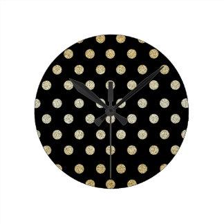 Black and Gold Round Clock