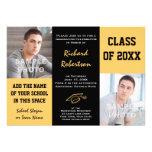 Black and gold School Colors Photos Graduation Invites