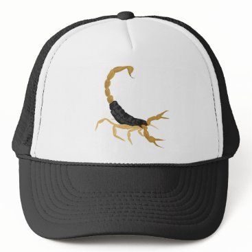 scorpionagency Black and Gold Scorpion Trucker Hat