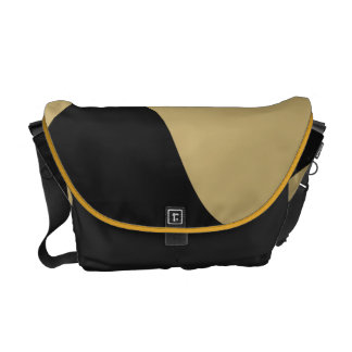 Black and Gold Smooch Bag Courier Bags