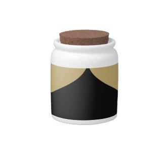 Black and Gold Smooch Candy Jar