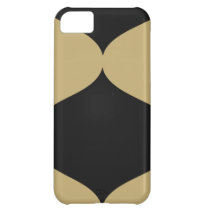 Black and Gold Smooch Cover For iPhone 5C
