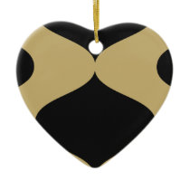Black and Gold Smooch Ceramic Ornament