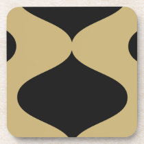 Black and Gold Smooch Coaster