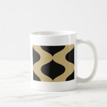 Black and Gold Smooch Coffee Mug