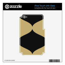 Black and Gold Smooch iPod Touch 4th Gen Skin