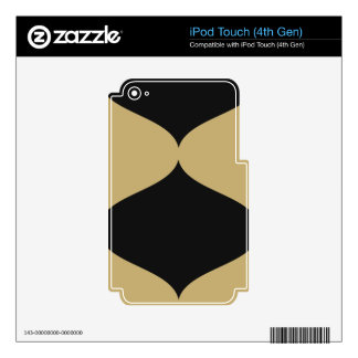Black and Gold Smooch iPod Touch 4th Gen Skin Skins For iPod Touch 4G