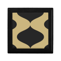 Black and Gold Smooch Keepsake Box