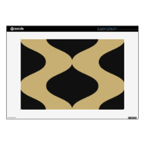 Black and Gold Smooch Laptop Decals