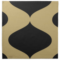 Black and Gold Smooch Napkin