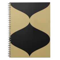 Black and Gold Smooch Notebook
