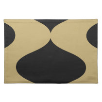 Black and Gold Smooch Placemat