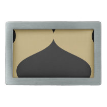Black and Gold Smooch Rectangular Belt Buckle
