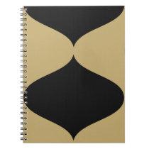 Black and Gold Smooch Spiral Notebook
