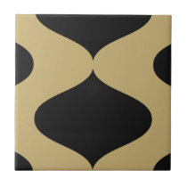 Black and Gold Smooch Tile