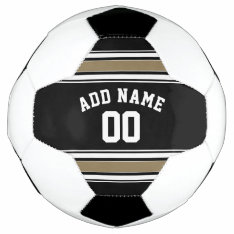 Black And Gold Sports Jersey Name - Can Edit Color Soccer Ball at Zazzle