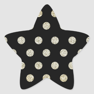 Black and Gold Star Sticker