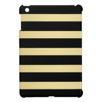 Black and Gold - Striped Pattern Case For The iPad Mini