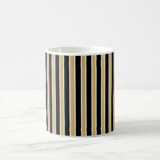 Black and Gold Stripes - School Colors Mugs