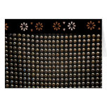 Black And Gold Studs Pattern Greeting Card