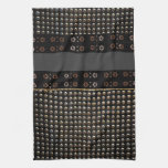 Black And Gold Studs Pattern Hand Towel