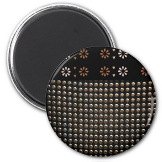 Black And Gold Studs Pattern Magnet