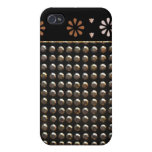 Black And Gold Studs Pern Covers For iPhone 4
